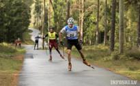 Latvijas čempionātā rollerslēpošanā garajās distancēs Priekuļos