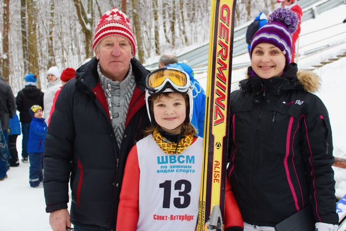 Alise ar treneriem Margaritu un Modri
