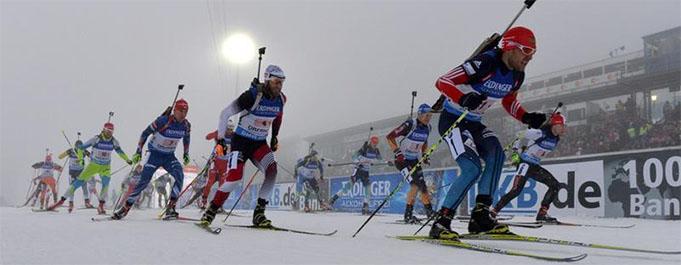 Sacensību starts, biathlonworld.com