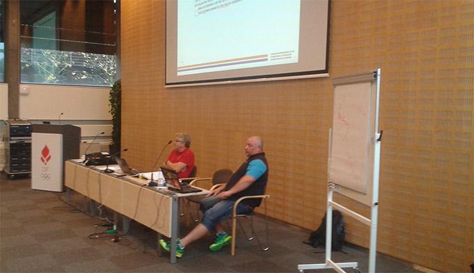 TD semināra vadītāji, Komisārs Jalle Forsmarks (SWE) un TD OS Sočos Rolle Johansens (NOR)