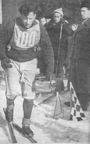 Latvijas meistarsacīkstes 1961.g. Uzvarētājs 50 km distancē Imants Vītols.