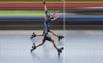 """R.Znotiņš un kalnu slēpotājas A.Irbe un M.Garā uzvar """"Skibox balvas"""" 5.posmā skrituļslidošanā"""