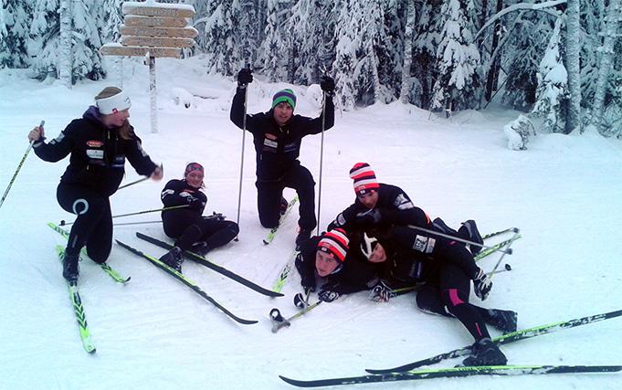 Latvijas kalnu slēpošanas izlase Somijā