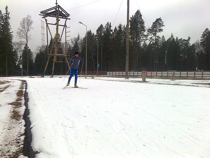 Siguldas Sporta un aktīvās atpūtas centra distanču slēpošanas trase, 2014. gada novembris