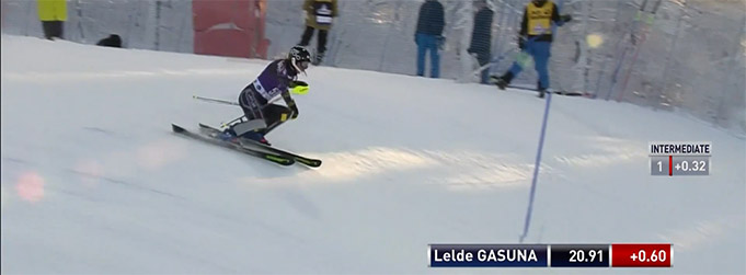 L.Gasūna atkārto savu labāko vietu PK slalomā