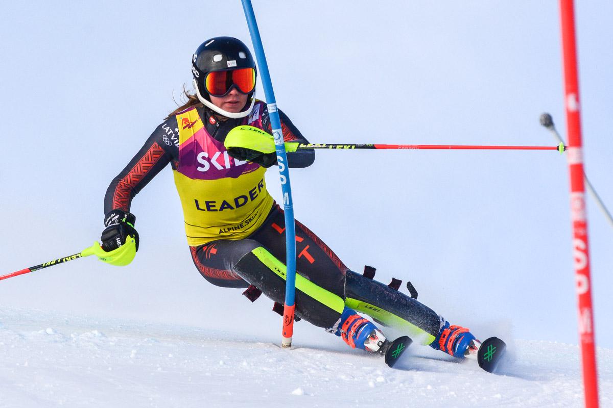 K.Zvejnieks un L.Gasūna uzvar arī Latvijas Čempionātā slalomā