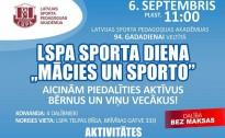"""6. septembrī LSPA rīko sporta dienu ģimenēm ar bērniem """"Mācies un sporto"""""""
