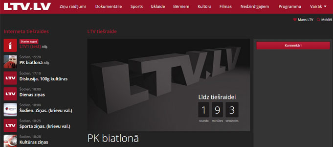 LTV tiešraide