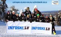 Latvijas izlase kalnu slēpošanā uz slēpēm arī vasarā