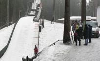 29.martā Ogrē sacensības lēkšanā ar slēpēm no tramplīna
