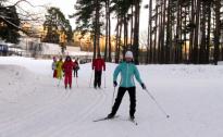 Biķerniekos darbojas distanču slēpošanas trase