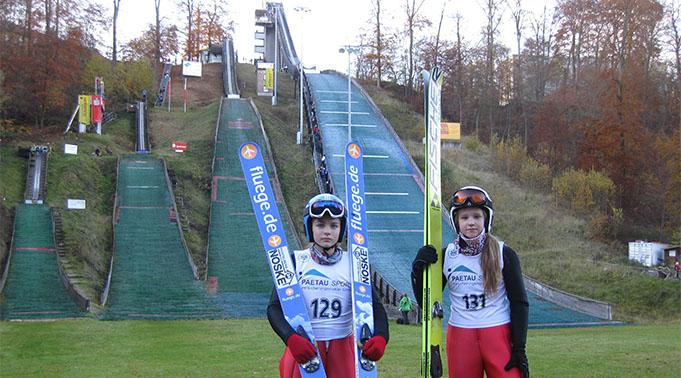 Siguldas tramplīnlēcējiem Labi panākumi sacensībās tramplīnlēkšanā un divcīņā Vācijā