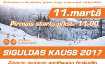 Aicinām uz Siguldas Pilsētas trases ziemas sezona noslēguma festivālu – Siguldas kauss 2017.