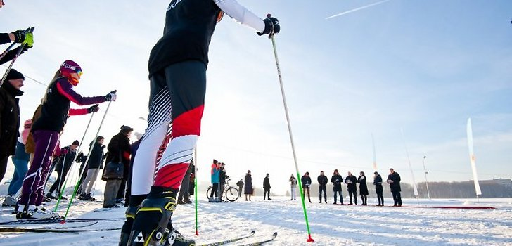 Purvciemā atklāts ziemas sporta un atpūtas parks