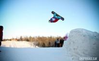 Pirmās snovborda un frīstaila slēpošanas sacensības Latvijā