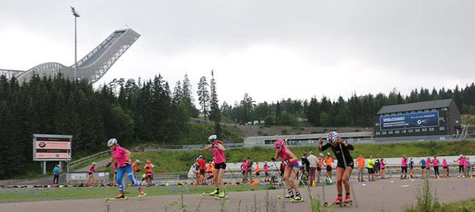 Sprinta starts Holmenkollen stadionā