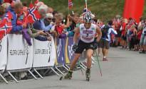 Rollerslēpojumā pret kalnu vīriem ātrāki slēpotāji, dāmām biatloniste Mekereinena
