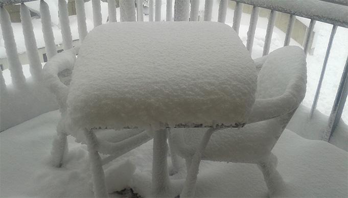 Daudz sniega Soldenā.