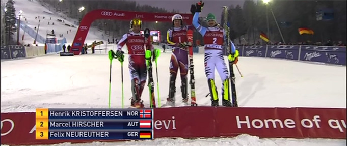 Podium, World Cup 2014 in Levi, FIN