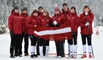 Latvijas distanču slēpotāji EYOF 2019, Foto: M.Mālmeisters