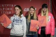 FIS Baltic Cup 2018 3. posms, jauniešu un meistaru SG/AC apbalvošana, Foto: Emīls Lukšo